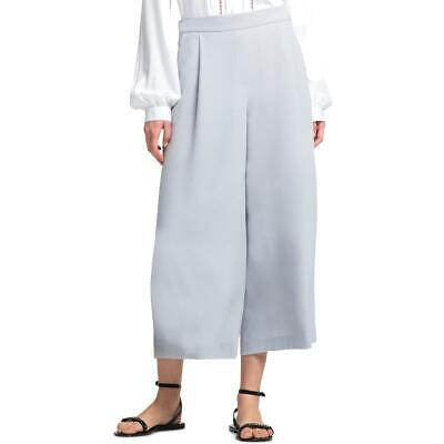DKNY Womens Gray Crop High Rise Daytime Wide Leg Pants M BHFO 8210