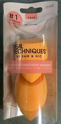 Real Techniques 2 Pack Miracle Complexion Sponges 100% Genuine Guaranteed Aus