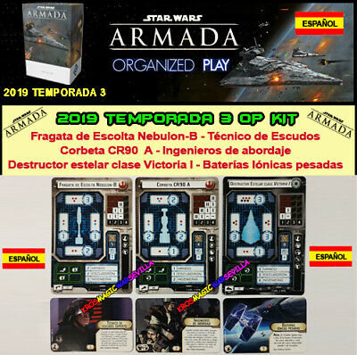 STAR WARS ARMADA 2019 TEMPORADA 3 ESPAÑOL Nebulon-B, Corbeta CR90, Destructor V1