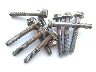 (4) M8-1.25 x 60mm  HEX 13 mm FLANGE BOLT / Screw - Stainless Steel M 8 X 60