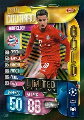 Match Attax Extra 19/20  Phillipe Coutinho Gold Limited Edition LE5G TOPPS RARE