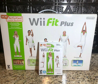 Wii Fit Plus Balance Board + Wii Fit Plus Game In Box