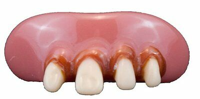 Teeth Billy-Bob Vampire Triple Teeth with Fixative Fancy Dress Adult