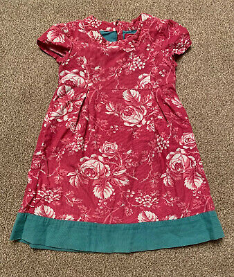 Girls Joules Pink Floral Dress Age 4 Years