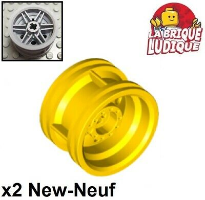 Lego 2x roue jante Pulley Wheel Center Small Stub Axles blanc//white 3464 NEUF