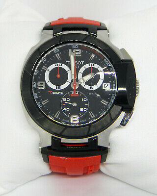 Tissot T-Race Red Rubber Band Mens Chronograph Watch T048.417.27.057.01 $650.00