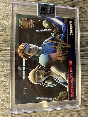 2018 Topps Star Wars Auto 2/3 Anakin skywalker Archives Signatures Matt Lanter
