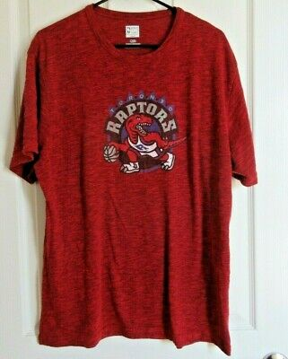 Toronto Raptors Throwback Cooperstown Hardwood T-Shirt Mens Large Majestic