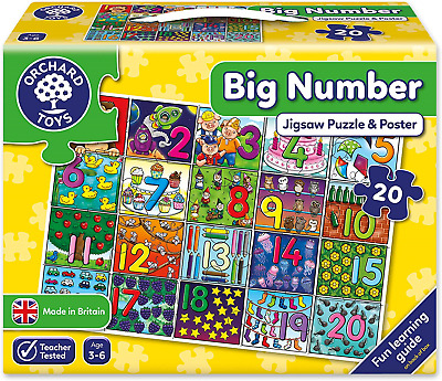 NEW 237 Orchard Toys Big Number Jigsaw