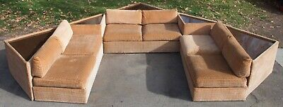 LOT # 3 Thayer Coggin by MILO BAUGHMAN SOFA tables couch SET MID CENTURY MODERN
