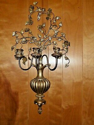 HANDWROUGHT IRON SHAKER HEART CANDLE WALL SCONCE CANDLE HOLDER FOLK ART WH11
