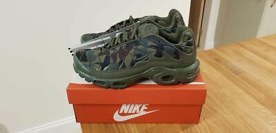 NIKE 'Air Max Plus TN 1 Tuned' Army Green Camouflage Trainers UK 8