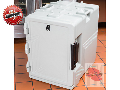 Cambro S- Series  Ultra Insulated Food Carrier, Built- In Gasket Speckled Gray