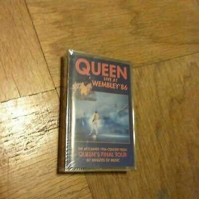 RARE Queen live at Wembley 86 sealed cassette New old STOCK  1992