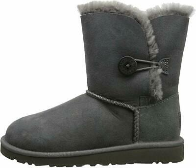 Ugg Australia Bailey Button Shepskin Short Big Kids Grey Boots Size 1 $130