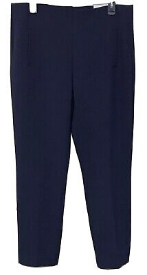 NWT CHICO'S $79 Midnight Blue So Slimming JULIET Pull-On Ankle Pant Size 1 (Med)