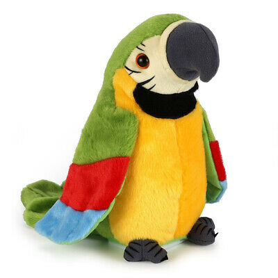 Cute Electronic Talking Parrot Plush Toy Sound Record Repeat Speaking Toys Kids