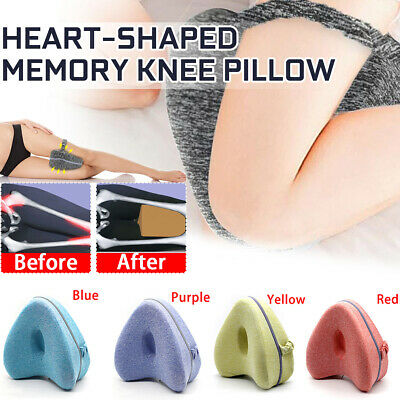Leg Pillow Memory Knee Wedge Pillow With Washable Cover For Relief Back