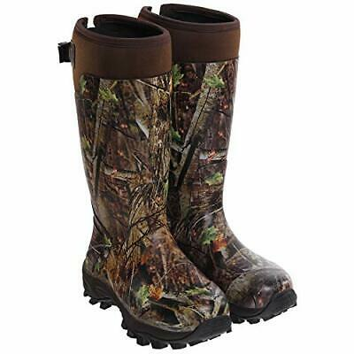 HISEA Hunting Boots for Men Waterproof Mens and Womens Rain, Camo, Size 13.0 Vkz