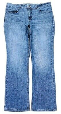 Riders By Lee Womens Mid Rise Straight Leg Jeans Size 16