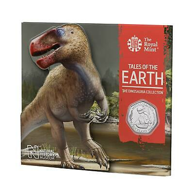 2020 Dinosauria BUNC UK 50p Megalosaurus Dino Coin in Royal Mint Sealed Pack