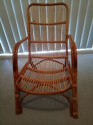 Vintage Cane Casual Lounge or Patio Chair