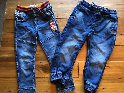 Two Pairs Boys Jeans 2-3 Years TU And Mothercare
