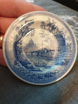 """Spode The Blue Room Collection Miniature Plate-Georgian Series-""""Rome""""-Mint Cond"""