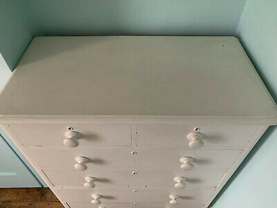 Painted Edwardian/Antique Chest of 6 Drawers Solidly Built Shabby Chic