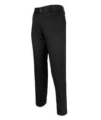 Boys Kids Slim Fit Chino Dress Suit Trousers Casual Cotton Pants in Black