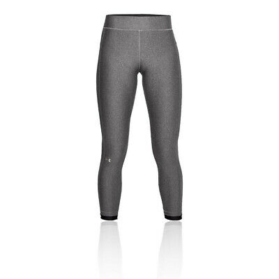 Under Armour Womens Heatgear Ankle Crop Tights Bottoms Pants Trousers - Grey