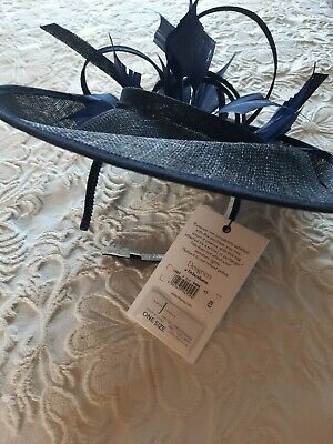 Jasper Conran Navy Fascinator Hat. Brand New With Tag