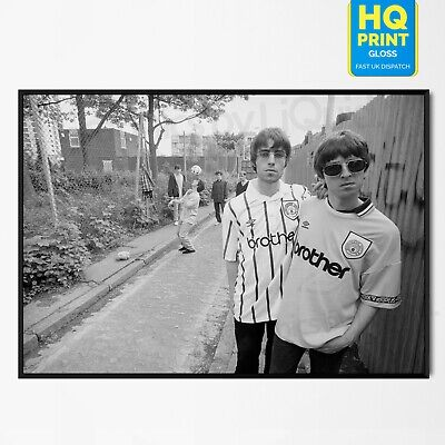 OASIS Manchester City Noel & Liam Gallagher POSTER Photo | A5 A4 A3 A2 A1 |