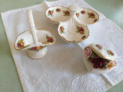 3  SMALL  ORNAMENTAL ITEMS   ROYAL ALBERT   'OLD COUNTRY ROSES'  1st  QUALITY