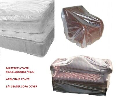 Strong Clear Polythene Protector Covers for MATTRESSES, SOFA, ARMCHAIR Removals