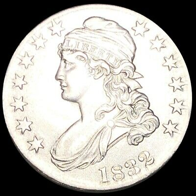 1832 Capped Bust Half Dollar CLOSELY UNCIRCULATED Philadelphia 50c Silver Coin!