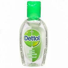 50 X Dettol Instant Hand Sanitizer Original Kills 99.9% of Germs 25 ml |No Water