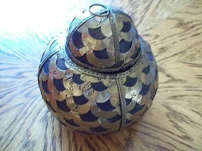 India Jar Brass Covered