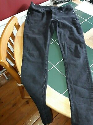 2 X Pairs Of Mens Cheap Monday Black, Used Look, Spray Jeans Size 32 33 Bundle