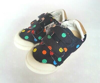 BNWT NEXT Navy Blue Multi-Coloured Polka Dot Shoes Trainers Size 4 RRP £14