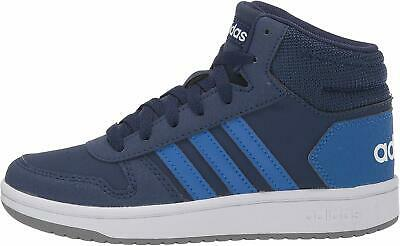 Kids Adidas Boys Hoops Mid 2.0 Leather, Dark Blue/Blue/White,  Size Big Kid 4.0