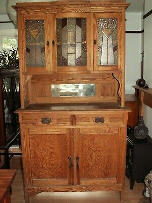 antique pine arts and crafts style dresser....
