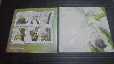St Kitts 2014 Sg Ms1125-1126 Cactus Flowers Mnh