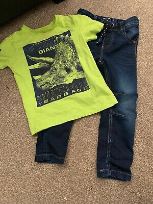 Next Boys Jeans And Dinosaur Top Aged 3 Years
