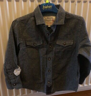 BNWoT Boys Jasper Conran Age 4 Yrs Dark Blue Shirt Ex Condition Long Sleeves