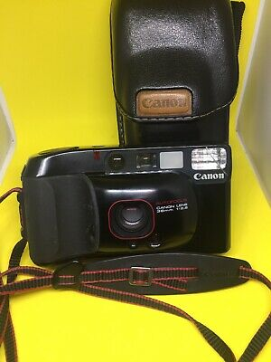 Vintage Canon Sure Shot Supreme 35mm Fully Automatic AF Compact Camera with Case