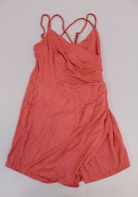 Favlux Fashion Women's Feel The Wind Asymmetrical Romper HD3 Marsala Large NWT