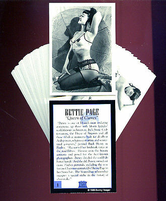 BETTIE PAGE - Bettie Page Queen of Curves - 50 Card Cheesecake Bad Girl Art Set