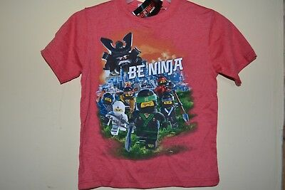 LEGO NINJAGO 5 NAMED NINJAS-BOYS SIZE 5//6-LICENSED SHORT SLEEVE-NWOT