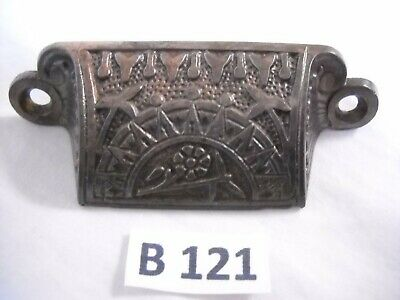 Antique Cast Iron Bin Drawer Pulls Eastlake Style 1880'S
